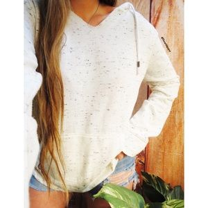 Beachy soft marled slouchy popover hoodie 🌊